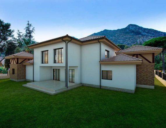 Precio construcci n casa chalet alcander en bizkaia - Precio m2 construccion chalet ...