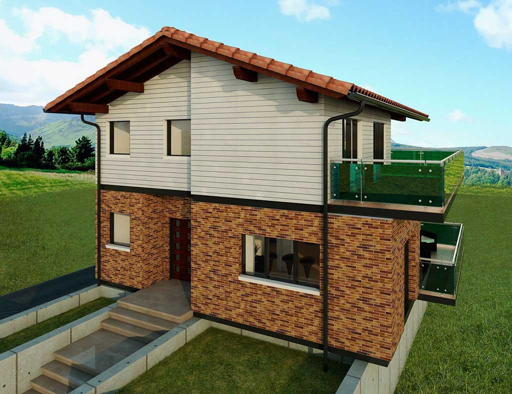 Precio construcci n casa chalet celandia en bizkaia - Precio m2 construccion chalet ...