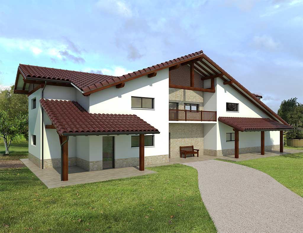 Precio construcci n casa chalet xandy en bizkaia gipuzkoa - Precio m2 construccion chalet ...