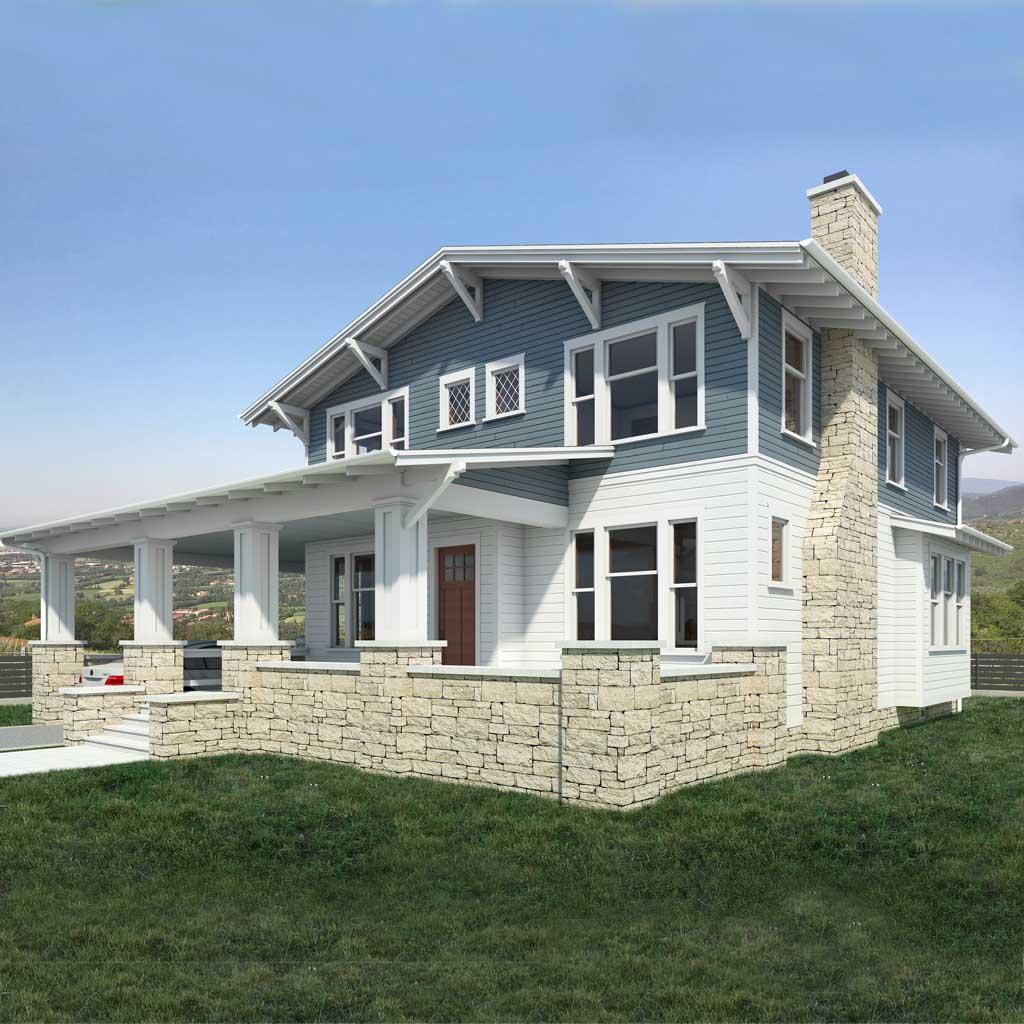 Precio construcci n casa chalet talbot en bizkaia - Precio m2 construccion chalet ...