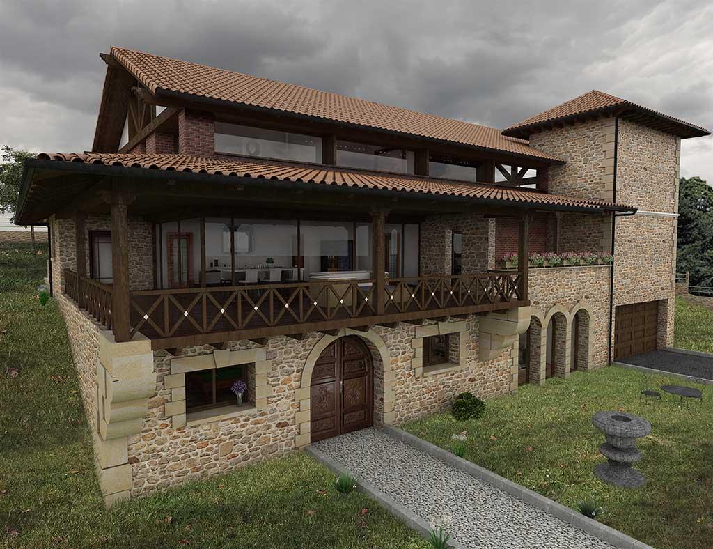 Precio construcci n casa chalet asteria en bizkaia - Precio m2 construccion chalet ...