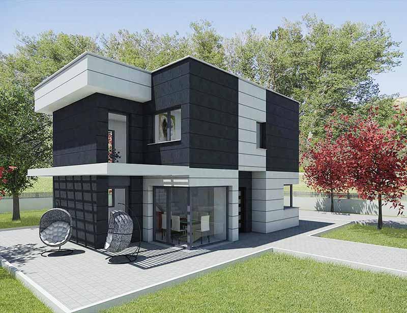 Diseño casa moderna para construcción