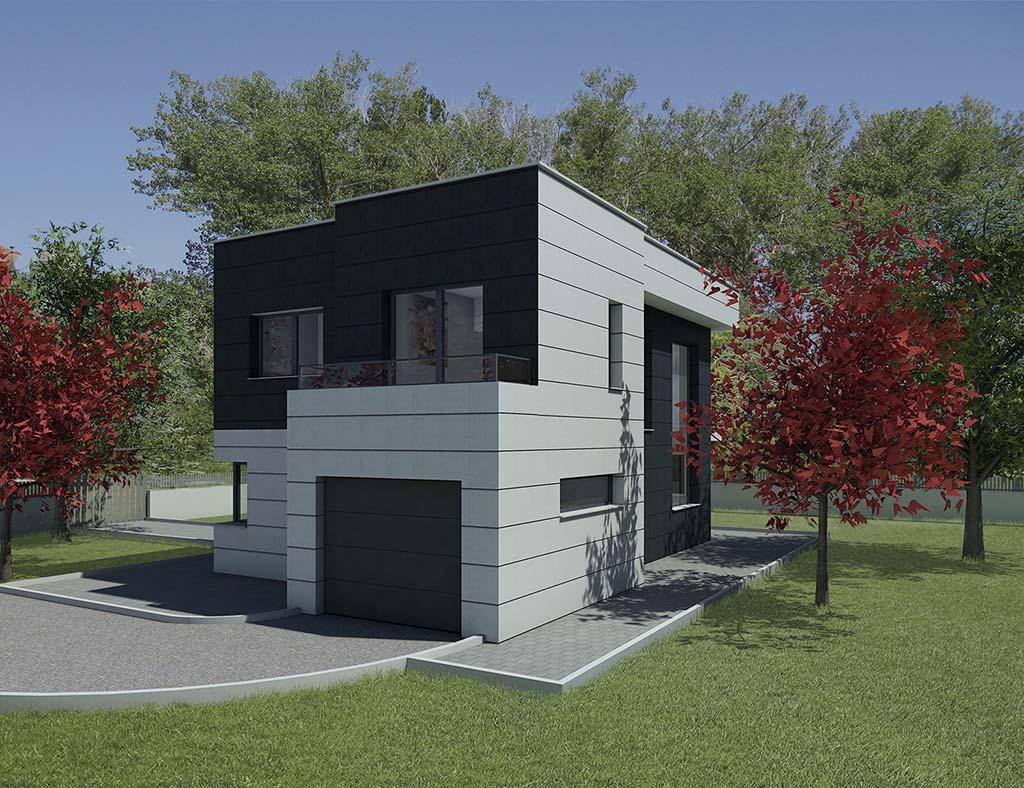 Diseño casa estilo moderno para construcción